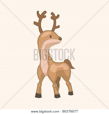 Animal Moose Cartoon Theme Elements