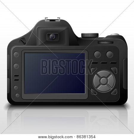 Back Side Of Modern Digital Camera