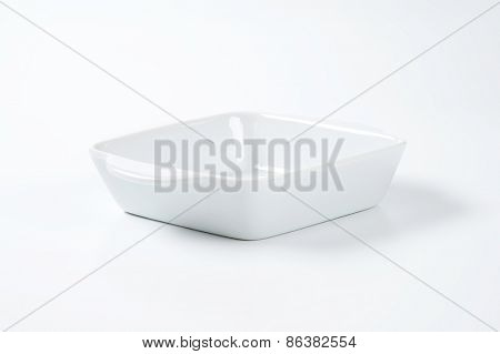 small baking tray on white background