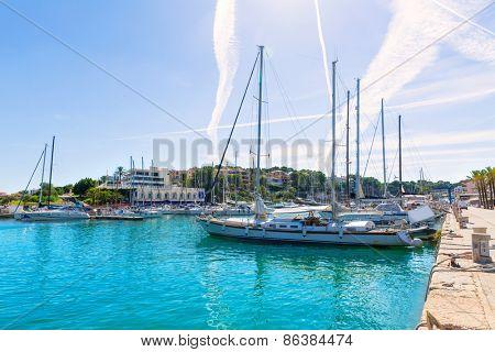 Majorca Porto Cristo marina port in Manacor of Mallorca Balearic island at spain