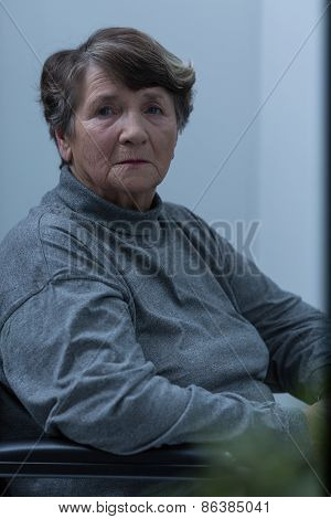 Lonely Disabled Female Pensioner
