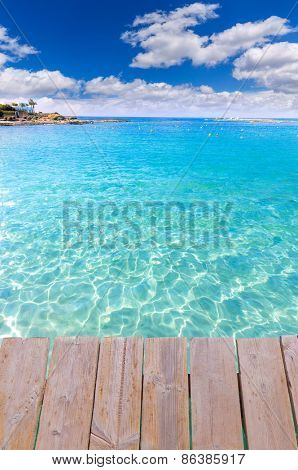 Mallorca Marques beach Es Trenc Estany Estanque beach in Balearic islands deck photo mount