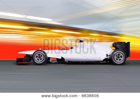 Formula One Car On Empty Road