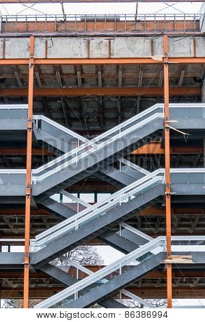 carcass with staircase, symbolism for, icon for development, symmetry, ladder