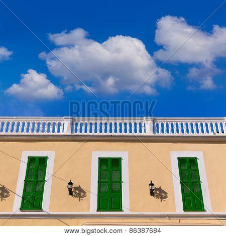 Mallorca Colonia Sant Jordi Balearic facade in Mediterranean spain