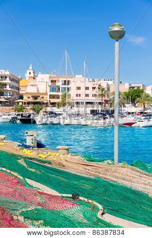 Majorca Cala Ratjada fishing nets Rajada in Capdepera Mallorca