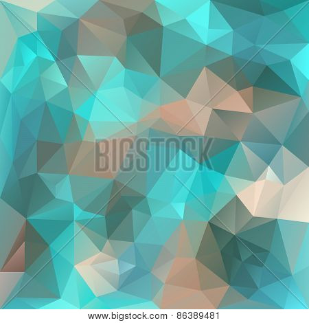 Vector Polygonal Background Pattern - Triangular Design In Ice Colors -