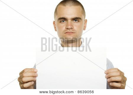Blank sign - businessman