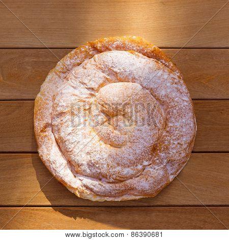 Ensaimada typical from Mallorca Majorca bakery in balearic islands
