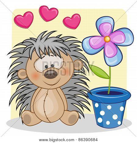 Hedgehog With Hearts