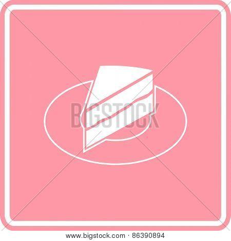 cake slice in dish sign