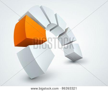 Vector illustration of 3d shapes
