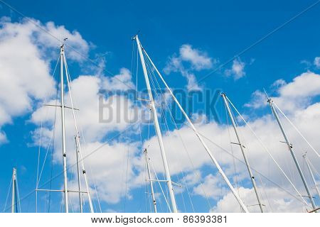 Sailing Must And Clouds