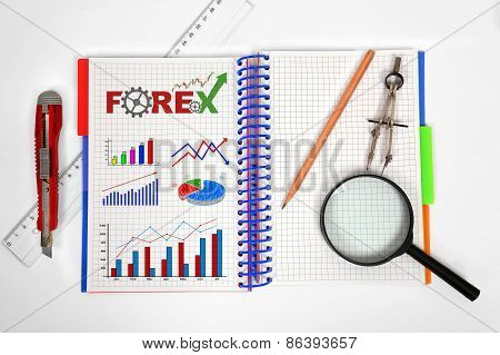 Notepad With Forex Chart
