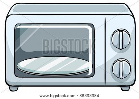 Close up small microwave oven