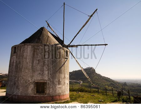Old Windmill Against Palmela