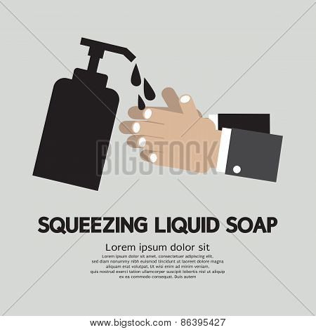 Squeezing Liquid Soap.