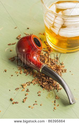 Tobacco Pipe And Whisky