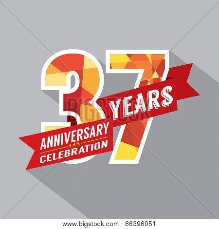 37Th Years Anniversary Celebration Design.