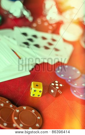 Gambling Background Dice