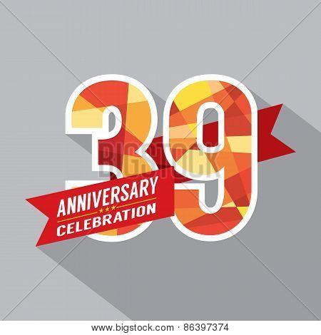 39Th Years Anniversary Celebration Design.