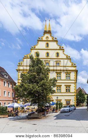 Seinsheim Castle In Medieval Town Of Marktbreit