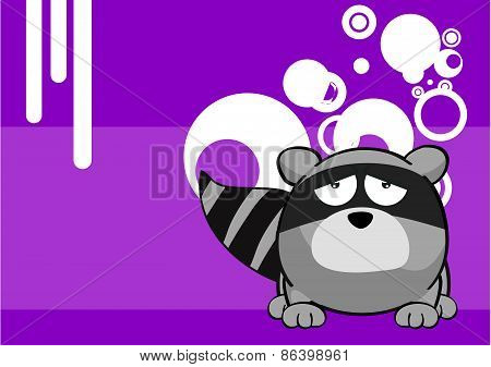 sad raccoon cartoon background