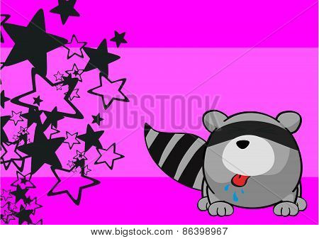 cute raccoon cartoon background