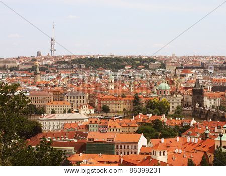 Beautiful cityscape of Prague, travel shot