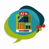 image of cash register  - Shopping Cash Register Flat Icon With Long Shadow - JPG