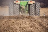 picture of plow  - Sowing and plowing action in the spring season - JPG