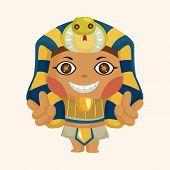 stock photo of pharaohs  - pharaoh theme elements - JPG