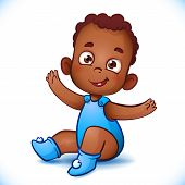 picture of african animals  - Cute African American Cartoon baby boy - JPG