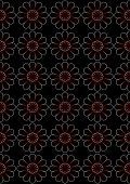 picture of superimpose  - Abstract black seamless background of superimposed on each other bright daisies - JPG
