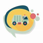 pic of trash truck  - Transportation Garbage Truck Flat Icon With Long Shadow - JPG