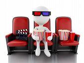 picture of popcorn  - 3d illustration - JPG