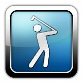 foto of foursome  - Image Icon Button Pictogram with Golfing symbol - JPG