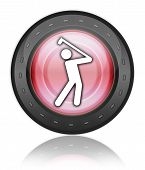 picture of foursome  - Image Icon Button Pictogram with Golfing symbol - JPG