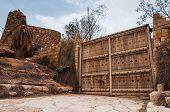 foto of riyadh  - Big entrance palissade and fortification in Riyadh Saudi Arabia - JPG
