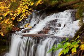 Wagner Falls In Autumn - Alger County Michigan poster