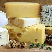 stock photo of brie cheese  - Cheese board  - JPG