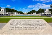picture of memorial  - World War II Memorial in washington DC USA at National Mall - JPG