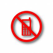 pic of restriction  - Mobile phone restricted icon - JPG