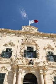 picture of prime-minister  - The lovely proportionate Auberge de Castille is a baroque palace in Valletta  currently the offices of the Prime Minister of Malta - JPG