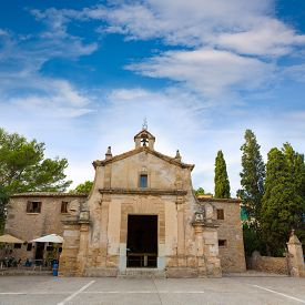 picture of calvary  - Majorca esglesia del Calvari church in Pollenca Pollensa at Mallorca spain - JPG