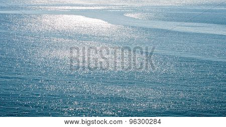 Abstract Blue Sea Water With Ripples For Background