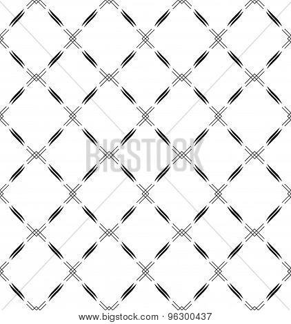 Black And White Seamless Pattern Modern Stylish, Abstract Background.