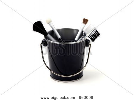 Objects - Make-Up Brushes In A Bucket
