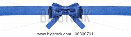 Blue Ribbon And Symmetric Bow With Square Cut Ends