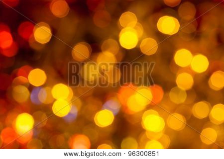 Dark Brown, Yellow And Red Twinkling Lights